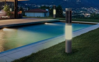NxT smart solar lamp home automation z-wave outdoor pool lighting