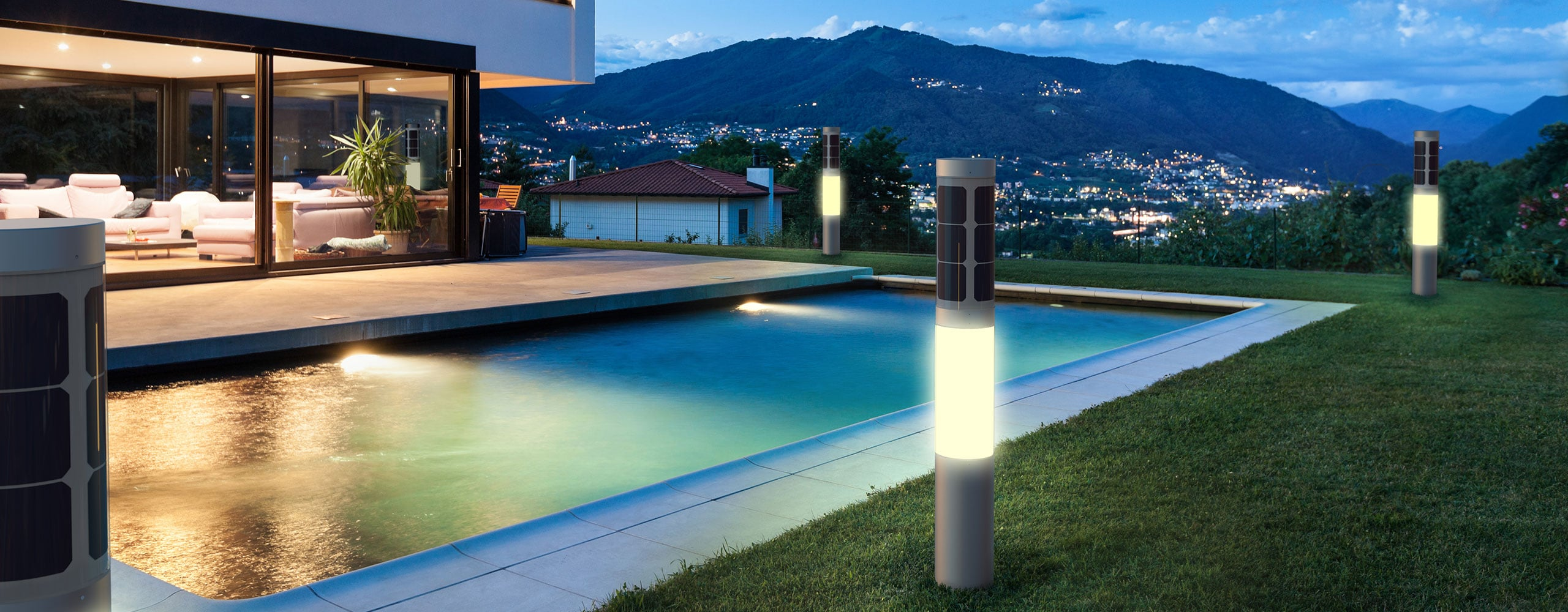 Solar Outdoor Lighting Nxt Lamp Flexsol Solutions