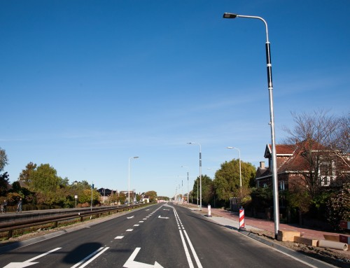 Soluxio solar light poles on the renovated N211 provincial road